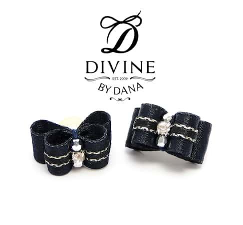 Maltese Double topknot bows - Divine bubbles