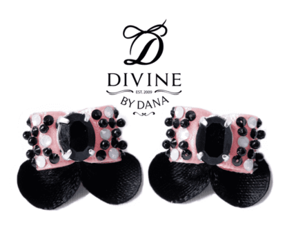 Rockstar - pink - double topknot maltese show bows