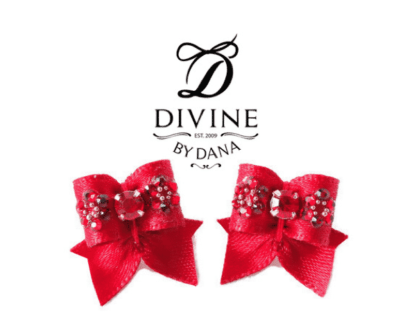 Moulin rouge collection - maltese double topknot show bows